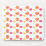Fun Pink Orange and Yellow Flower Mousepad Mouse Pad
