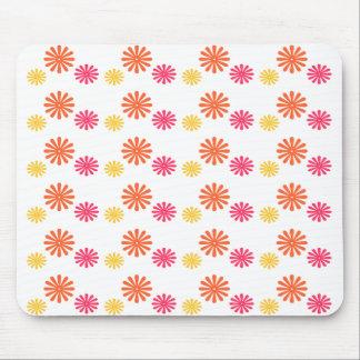 Fun Pink Orange and Yellow Flower Mousepad