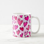Fun Pink Valentine's hearts mug