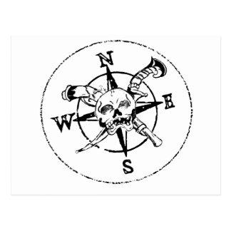 Fun Pirate Compass Logo Postcard