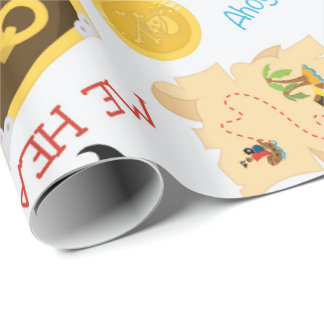 Fun Pirate pattern Party wrapping paper