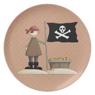 Fun Pirate Series 1 Kids Plate