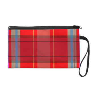 Fun Plaid Customizable Bagettes Wristlet Bag