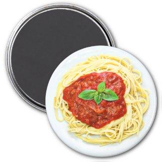 Fun Plate of Spaghetti Refrigerator Magnet