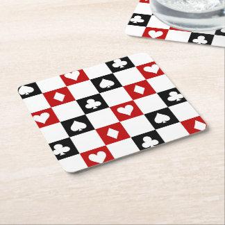 Fun Poker party suit pattern coasters