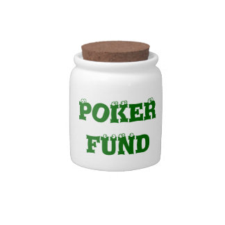 Fun Poker Players Money Spare Change Bank Candy Dishes