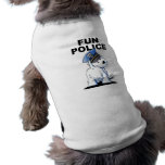 FUN POLICE Ribbed Dog Tank Top Pet Tshirt