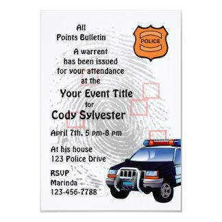 Fun Policeman Birthday Retirement Party Invitation Personalized Invite