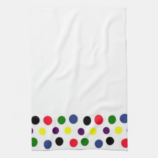 Fun Polka Dot Border American MoJo Kitchen Towel