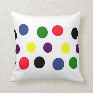 Fun Polka Dot Colors Pillow