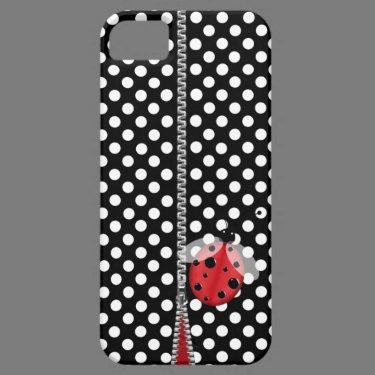 Fun Polka Dot & Ladybug iPhone 5 Case