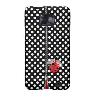 Fun Polka Dot & Ladybug Samsung Galaxy S2 Case