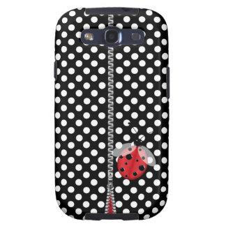 Fun Polka Dot & Ladybug Samsung Galaxy S3 Case