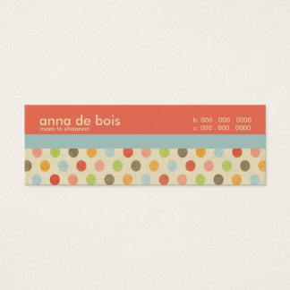 Fun Polka Dot Mommy Calling Card