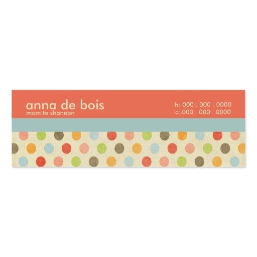Fun Polka Dot Mommy Calling Card Business Card Template