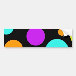 Fun Polka Dots Black Orange Purple Teal Pink Car Bumper Sticker