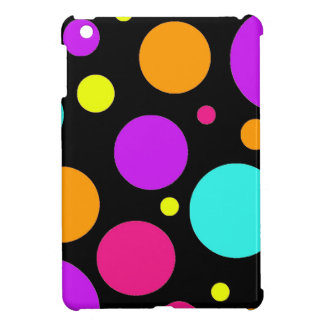 Fun Polka Dots Black Orange Purple Teal Pink iPad Mini Cases