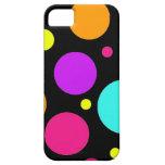 Fun Polka Dots Black Orange Purple Teal Pink iPhone 5 Cover