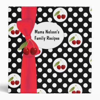 Fun Polka Dots & Cherries Recipe Binder