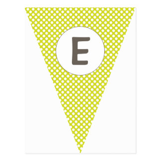 Fun Polkadot Lime Green Customizable Flag Bunting Postcard