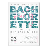 Fun Pool and Tropical Theme Bachelorette Party Invitation