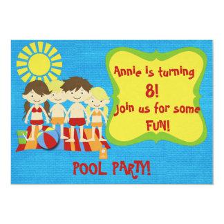 Fun Pool Party Card