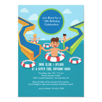 Fun Pool Party Invitation