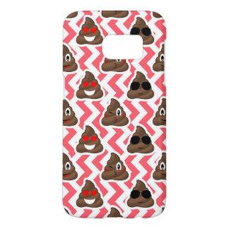 Fun Poop Emoji Red ZigZag Pattern Samsung Galaxy S7 Case
