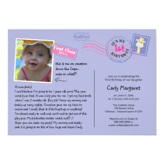 Fun Postcard Birthday Party Invitation