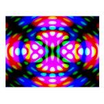 Fun Postcard, Psychedelic Neon Lights Swirling