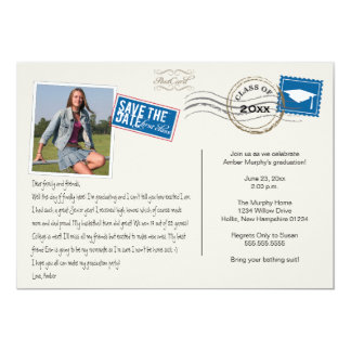 Fun Postcard Style Graduation Party Invitation