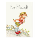 Fun Postcard Vintage Road To Happiness New Address
