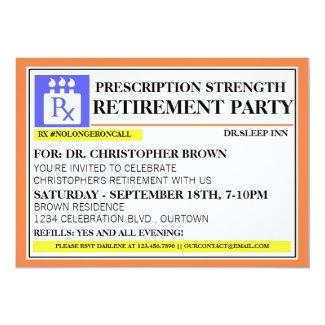 Fun Prescription Label Retirement Invitations