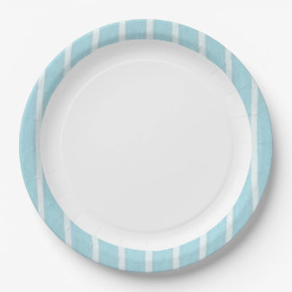 """Fun Prints""  Baby Blue(c)Multi-Sz Paper Plate"