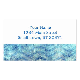 Fun Psychedelic Blue and Gold Wave Pattern Double-Sided Standard Business Cards (Pack Of 100)