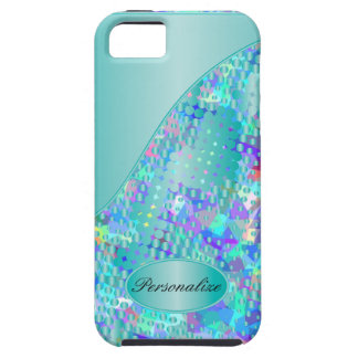 Fun Psychedelic Blues with a Splatter of Blue Dots iPhone SE/5/5s Case