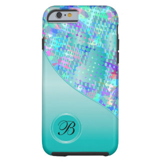 Fun Psychedelic Blues with a Splatter of Blue Dots Tough iPhone 6 Case