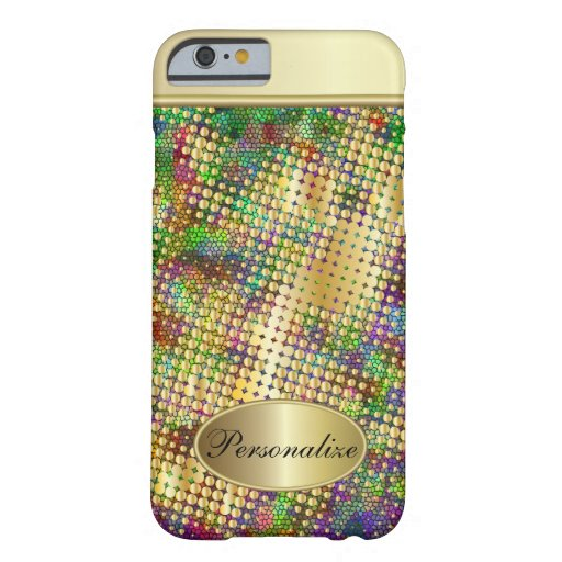 Fun Psychedelic with a Splatter of Gold Dots iPhone 6 Case
