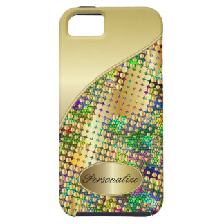 Fun Psychedelic with a Splatter of Gold Dots iPhone SE/5/5s Case