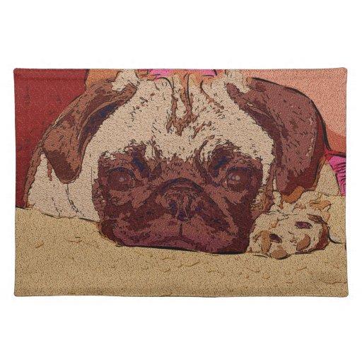 Fun Pug Art Placemats