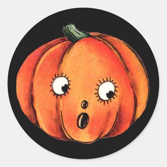 fun pumpkin face for halloween fun stickers zazzle com