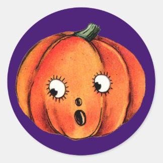 Fun Pumpkin Face for Halloween Fun Stickers