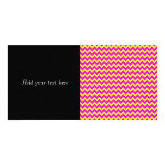 Fun Purple and Yellow Chevron Pattern Card