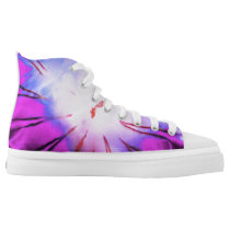 Fun Purple Blue Cool Cute Unique Novelty Jellyfish High-Top Sneakers