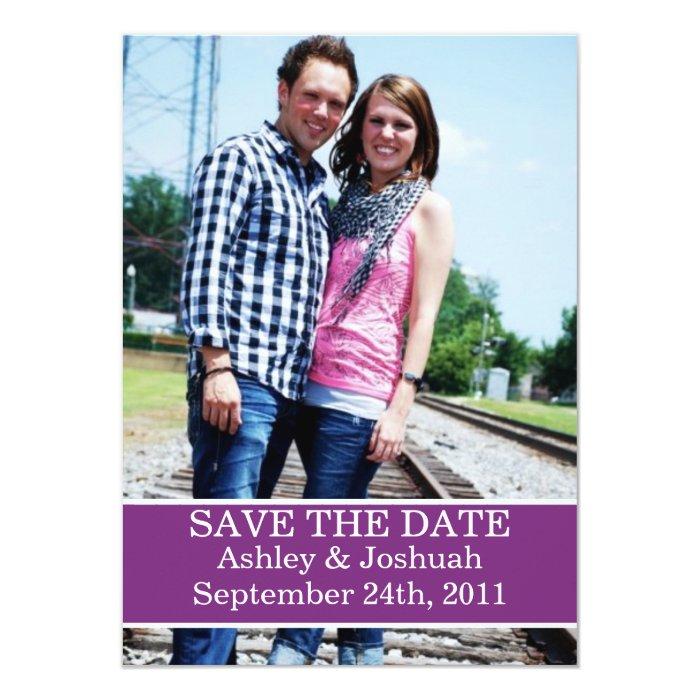 Fun Purple Design Save The Date Invites
