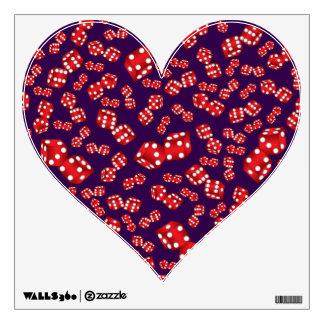 Fun purple dice pattern room sticker
