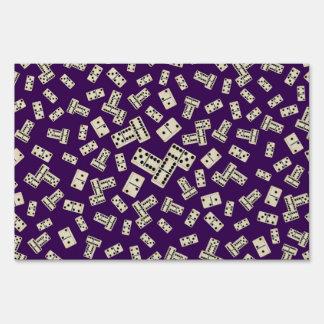 Fun purple domino pattern sign