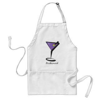 fun purple martini adult apron