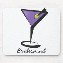 fun purple martini mouse pad