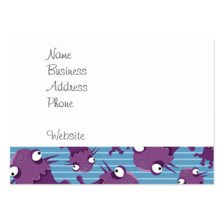 Fun Purple Monsters Creatures Blue Gifts for Kids Large Business Card